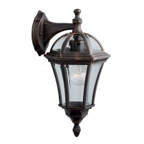 Cast Aluminium Capri Porch Light, Rustic Brown