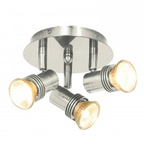 Searchlight Decco Satin Silver 3-light Spotlight