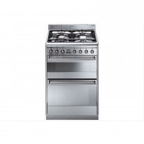 Smeg Suk62 Duel Fuel Cooker, Stainless Steel