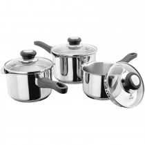 Judge Vista 3 Piece Draining Lid Saucepan Set