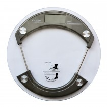 Casa Charcoal Round Glass Scale