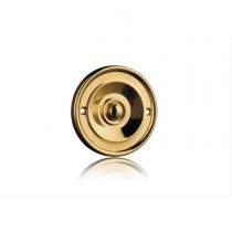 Byron 2207 Traditional Bell Push, Brass