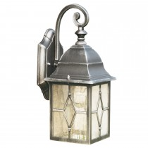 Lantern Wall Light, Black And Silver