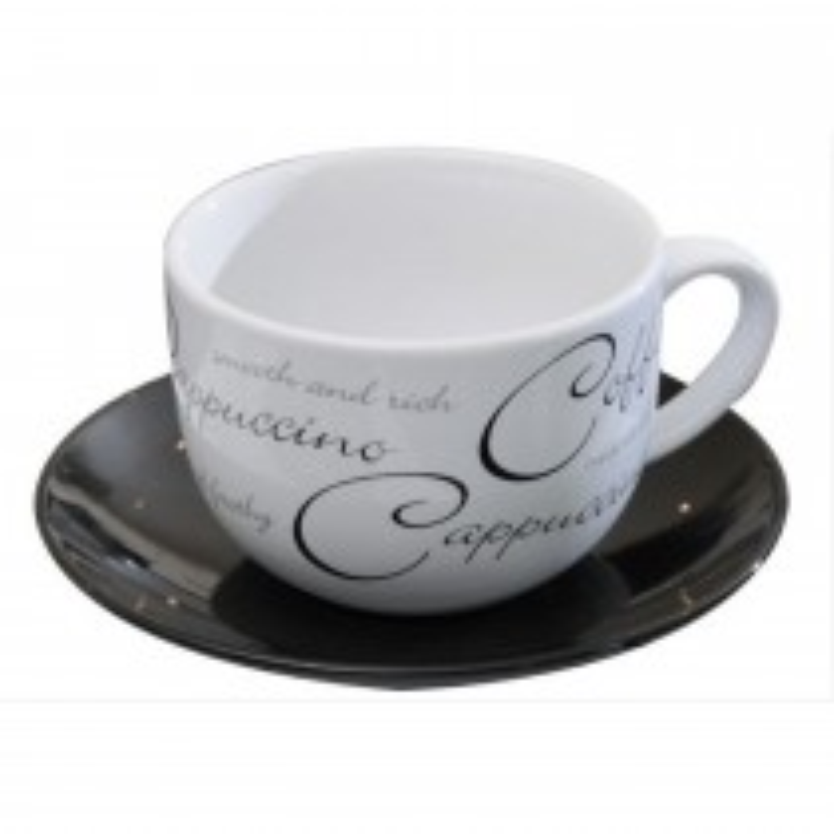 Script Cappuccino Cup & Saucer