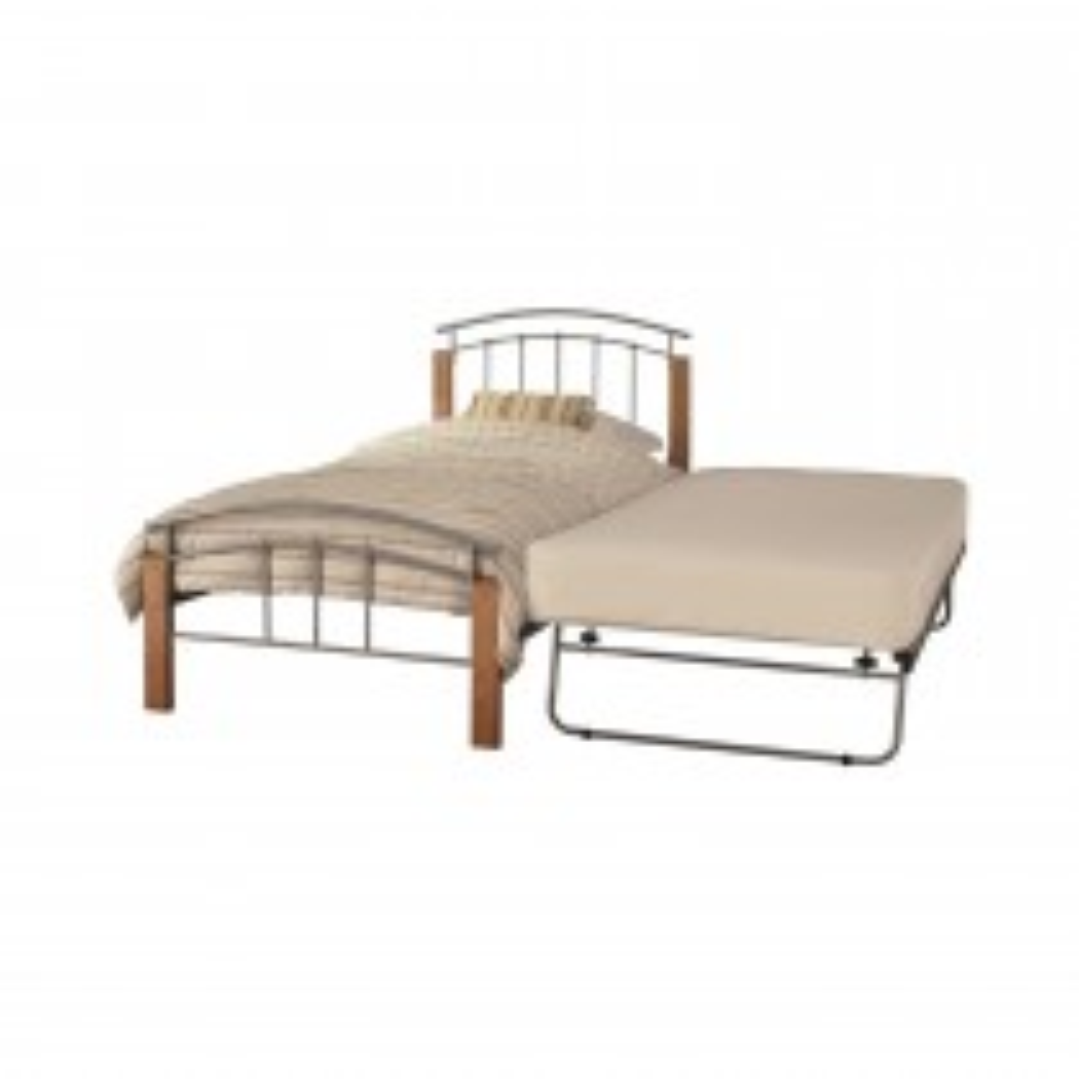 Casa Tetras Guest Bed Single, Silver and Beech