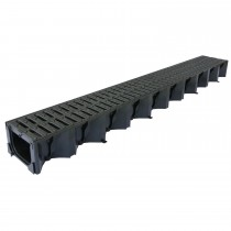 1metre Plastic Hexdrain Channel With Grate