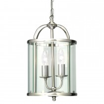 Oaks Fern Antique Chrome Ceiling Lantern