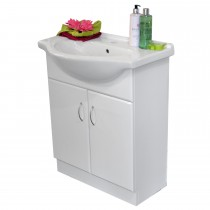 Amelia Vanity Unit and Sink, White