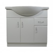 Grace Vanity Unit and Sink, White