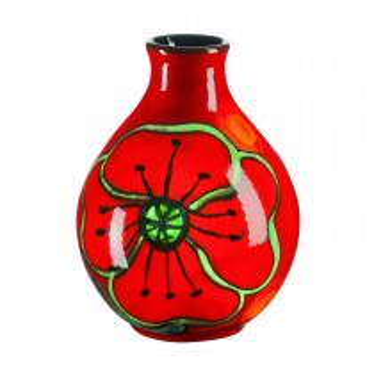 Poole Pottery Poppy Field Bud Vase