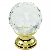 Carlisle 35mm Faceted Lead Crystal Traditional Cabinet Knob