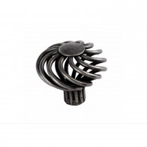 44mm Diameter Mushroom Steel Cage Traditional Cabinet Knob, Pewter Effect