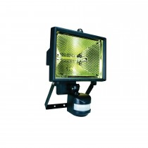 Byron ES400 Halogen Floodlight With Motion Detector, Black