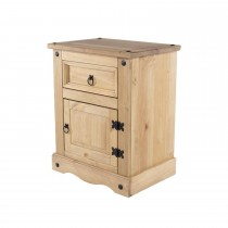 Corona 1 Door 1 Drawer Bedside Cabinet