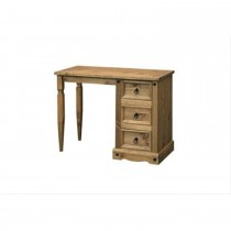 Corona Single Pedestal Dressing Table, Waxed Pine