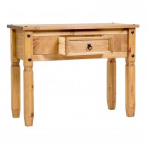 Corona Console Table, Waxed Pine
