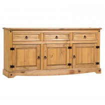 Corona Large Sideboard, Waxed Pine