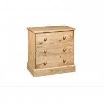 Cotswold 3 Drawer Chest, Waxed Pine
