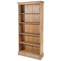 Cotswold Tall Bookcase, Waxed Pine