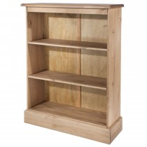 Cotswold Low Bookcase, Waxed Pine