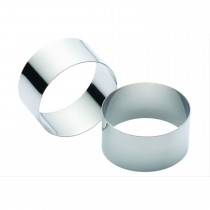 Kitchen Craft Set of Two Stainless Steel Cooking Rings