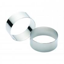 Set of Two Stainless Steel Large Cooking Rings