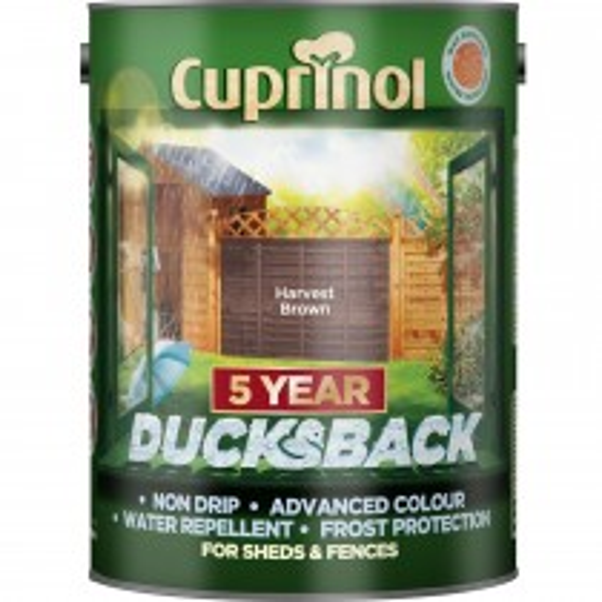 Cuprinol 9l 5yr Ducksback Harvest Brown