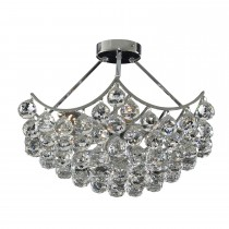 Searchlight Sassari Flush Ceiling Light, Chrome