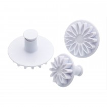 Sweetly Does It Set of Three Sunflower Fondant Plunger Cutters