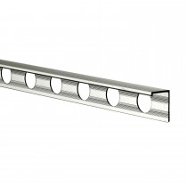 10mm Aluminium L Shaped Tile Trim, Silver