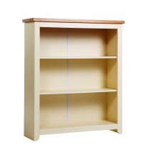 Jamestown Low Bookcase, Cream/Mellow Oak