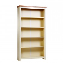 Jamestown Tall Bookcase, Cream/Mellow Oak