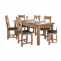Halo Plum Table & 6 Chairs
