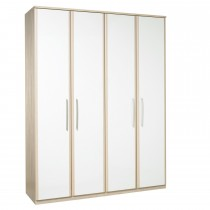 Casa Zara Tall 4 Door Bi-Fold Wardrobe