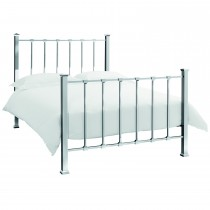 Casa Madison Kingsize Bed Frame, Shiny Nickel