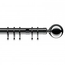 Speedy Cantata Curtain Pole, 150cm, Graphite