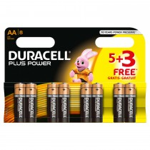 Duracell Plus Power AA 5+3's