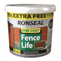 Ronseal 4l One Coat Fencelife +25% Foc 4l, Medium Oak