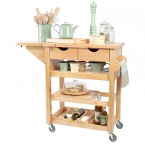 T And G Woodware Viva Trolley Built, Hevea