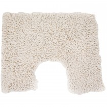 Casa Cotton Loop Pedestal Mat, Vanilla