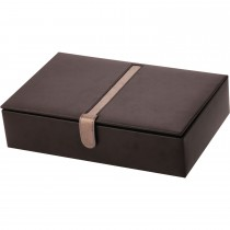 Black B/Leather 10 Watch Box