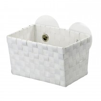 Wenko Fermo Static-Loc Bathroom Basket, White