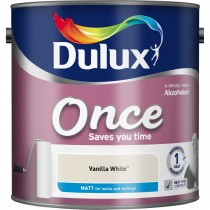 Dulux 5l Once Matt Emulsion, Vanilla White
