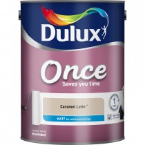 Dulux 2.5L Once Matt Emulsion, Caramel Latte