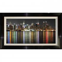 Complete Colour Rainbow Manhattan Framed Artwork