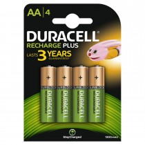 Duracell Rechargeable AA 1300mah 4 Pack