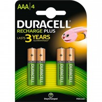 Duracell Rechargeable AAA 750mah 4 Pack