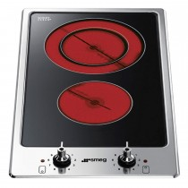 Smeg PGF32C Ceramic Hob, Stainless Steel