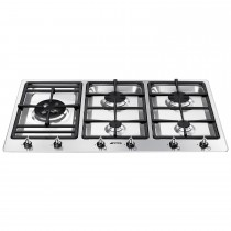 Smeg PS906-4 Hob, Stainless Steel