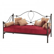Casa Lyon Small Single Day Bed With Guest Bed, Black
